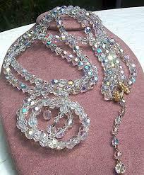 alice caviness crystal necklace bracelet set