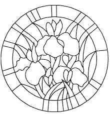 Coloriage Bouquet De Fleur Projets Vitrail Pinterest