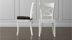 white wood dining chairs pertaining to vintner chair and cushion crate barrel remodel 0