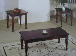 coffee table coffee table and end tables set dark cherry wood