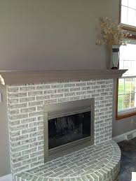 faux painting brick fireplace completed fireplace painted over red brick white faux brick electric fireplace