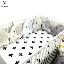 elephant crib per baby bed per elephant shape design embroidery per pad crib around protection baby elephant crib per