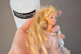 how to detangle doll hair barbie