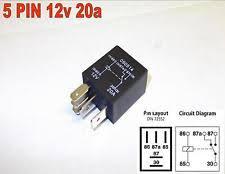 12v relay 5 pin 12v 20amp automotive micro relay changeover car motorbike van y9