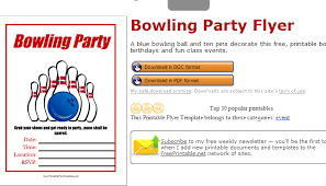 Fundraising Flyer Sample 4 Bowling Fundraiser Flyer Templates Af Templates