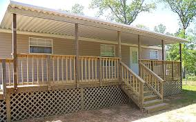 flat roof mobile home porch