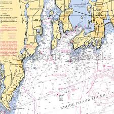 Sarasota Bay Nautical Chart Island Narragansett Newport Nautical Chart Decor Decorative