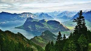 mountains, #panoramas, #Alps, #lake ...