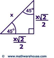 30 60 90 triangle theorem. special right triangles formulas. 30 60 90 and 45 examples triangle theorem