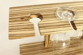 5 wine glass display holder shelf working for a tough designer