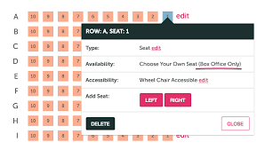 Make A Seating Chart How To Create A Theater Style Seating Chart Ticketleap