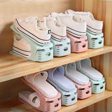 10pcs <b>Creative Shoe Rack Adjustable</b> Finishing Home Shelf ...