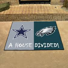 nfl house divided rivalry rug dallas cowboys philadelphia eagles