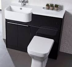 Toilet And Sink In One Tavistock Match 1000mm Compact Vanity With One Piece Basin Gloss