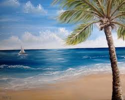 how to draw a tropical beach scene draw a tropical beach landscape to spread sand and