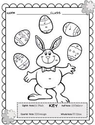 Spring Music Coloring Sheets Spring Easter Color By Note By
