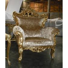 702 BrownGold FABRIC Sofa