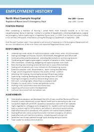 Nurse Resume Builder Template Design