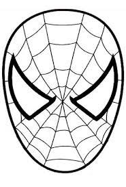 Masque Spiderman A Colorier D Coupage A Imprimer For Mason