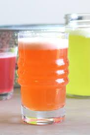 homemade energy drinks on table