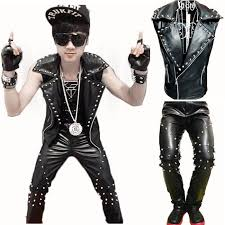 2018 cool men gothique punk rock leather motorcycle vest sleeveless rivet jacket coat and pants singer r performance costumes from jiangyongttt
