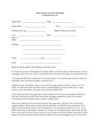 Example Of An Agreement Puppy Sales Agreement Form 007593347 2ract Example Template