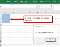 Microsoft Graph Chart Vba How To Run A Macro When Cell Value Changes In Excel Vba