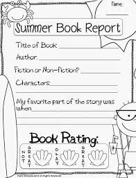 Summer Book Report Template Magdalene Project Org