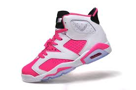 jordan shoes for girls pink and white. 2015 air jordan 6 gs white pink shoes for sale-4 girls and 2