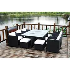 Amazon 13 Piece Outdoor Sectional Dining Wicker Patio