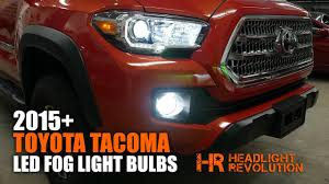 2015+ Toyota Tacoma LED Fog Light Bulb Upgrade and Install ...