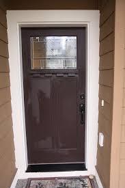 brown front doorA Front Door Makeover From Brown To Red Glidden Trim  Door Paint