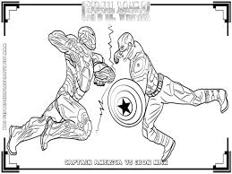Small Picture Captain America Ironman Civil War Coloring Pages Gekimoe 94041