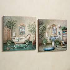 pictures for bathroom wall decor. blissful bath wooden wall art plaque set pictures for bathroom decor