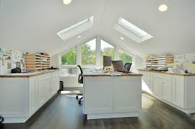 Image Side Contemporary Home Office With Gabled Roof And Skylights design Signature Properties Of Illinois Decoist 20 Trendy Ideas For Home Office With Skylights