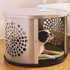 DenHaus BowHaus Modern End Table Dog Crate Furniture U2013 Pet Pro Supply Co Pet Crate Furniture A26
