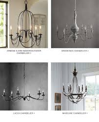 graham chandelier 6 arm iron finish