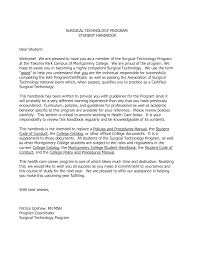 Cover Letter For Surgical Tech Resume Tomyumtumweb Com