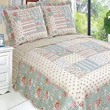 Country Cottage Floral Patchwork Quilt Coverlet Bedding Set ... & Country Cottage Floral Patchwork Quilt Coverlet Bedding Set Oversized  King/Cal King Finely Stitched www Adamdwight.com