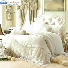 designer luxury bedding princess lace cotton sets queen king size beige with regard to comforter idea