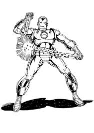 Iron man is a comic book superhero created in 1963 by stan lee for marvel comics. Iron Man Robot Coloring Page Page 1 Line 17qq Com