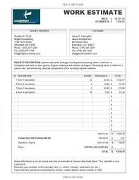 Work Estimate Templates 11 Job Estimate Templates And Work Quotes Excel Word Work
