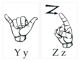 Sign Language Coloring Sheets Marcquintaylor Com