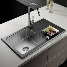 astini celso 1 0 bowl black glass stainless steel reversible kitchen sink