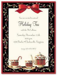 Christmas Tea Party Invitations Tea Invitation Templates Graduation Party Invitations