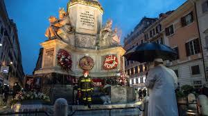 Du hast 3 möglichkeiten, von spanische treppe nach residenza ki, rome zu kommen. Papst Besuchte Mariensaule Bei Spanischer Treppe Krone At