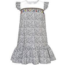 Skirt Size Chart For Toddlers Details About Us Stock Girls Dress Ruffle Skirt Leopard Print Black And White Size 4 8