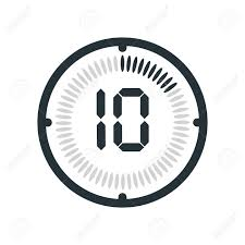 10 Minuite Timer The 10 Minutes Icon Isolated On White Background Clock And Watch