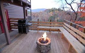 gas fire pit on wood deck magnificent regarding decor 0