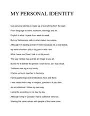 compassion essay in this lifetime the human condition has grown 2 pages my personal identity poem